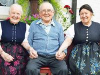 Drei Geschwister bringen es zusammen auf 280 Jahre