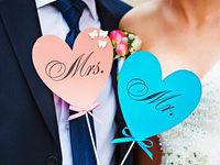 Die meisten Ehepaare w�hlen den Namen des Mannes