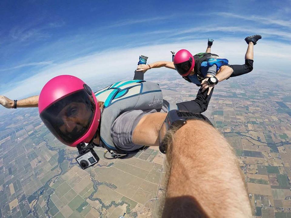 Selfie im freien Fall: die Farro-Brüder  | Foto: Caleb und Christopher Farro