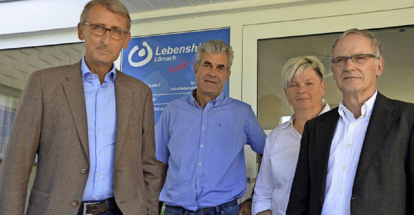 Bundestagabgeordneter Armin Schuster (...Werner Grotefendt von der Lebenshilfe   | Foto: Alexander