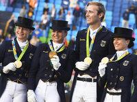 Gold f�r Dressur-Equipe – Werth schreibt Geschichte