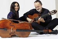 Duo Burstein & Legnani mit Klassik und Weltmusik f�r Cello und Gitarre in der Kirche St. Agathe