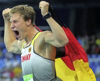 Thomas R�hler Olympiasieger im Speerwerfen