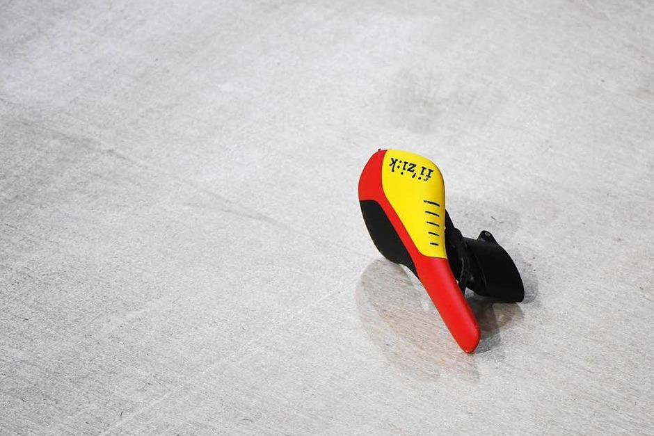 Bahnradsprinterin Kristina Vogel verlor während ihre Olympiafinales den Sattel – gewonnen hat sie trotzdem. (Foto: AFP)