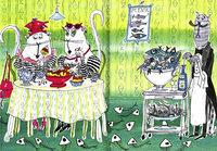 Katzen tisch