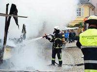 Ausgebrannter M�nsterwurststand: Metzger, Mitarbeiter und Gasinstallateur verurteilt