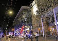 Brand auf dem Dach des Stadttheaters