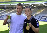 Gold und Silber im SC-Stadion