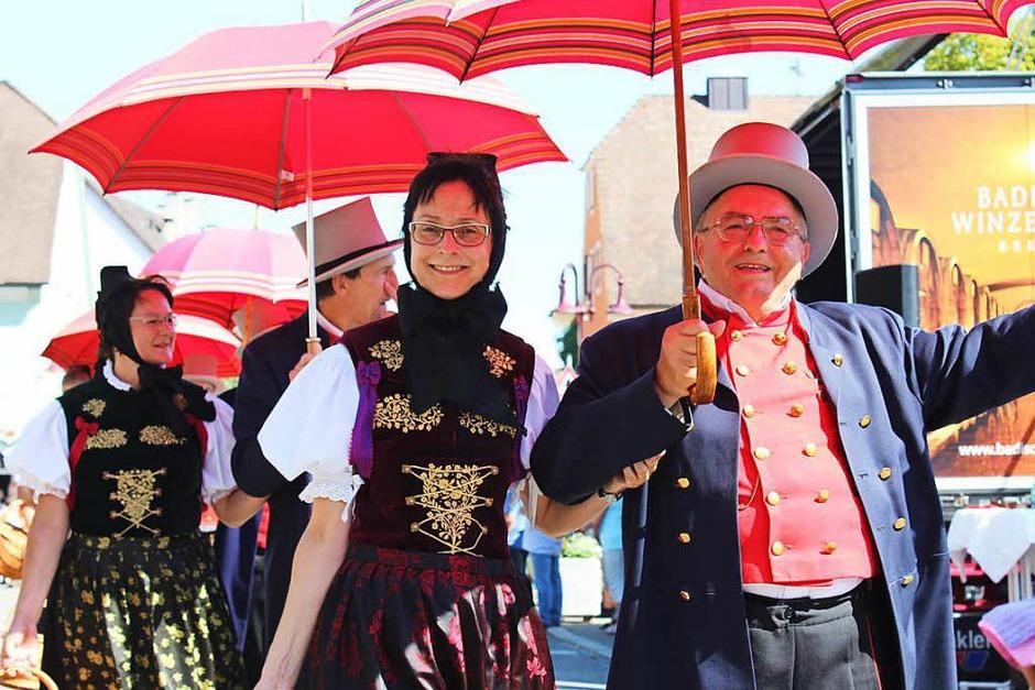 Eine Augenweide: der Festumzug zum Kreistrachtenfest in Breisach (Foto: Mario Schöneberg)