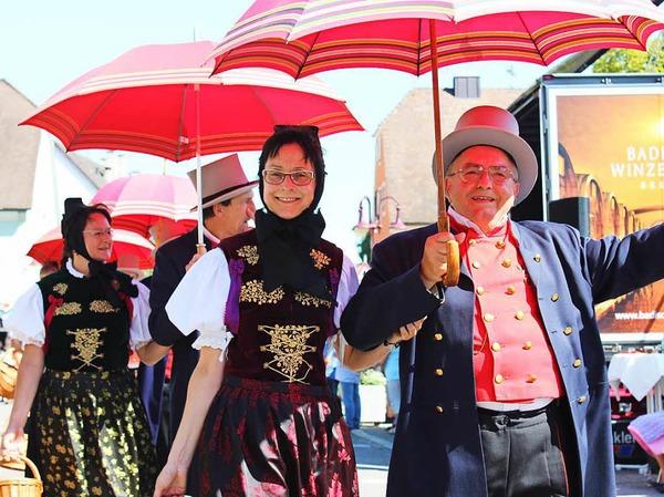 Eine Augenweide: der Festumzug zum Kreistrachtenfest in Breisach