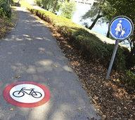 Neue Zeichen f�r Radfahrverbot