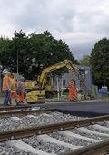 Bahn�bergang ist erneuert worden