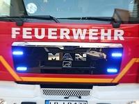 Brandstiftung vermutet: Erneut Feuer vor Fl�chtlingsunterkunft