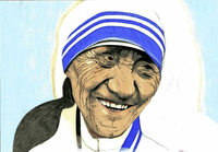 So malte ein H�ftling 1978 Mutter Teresa