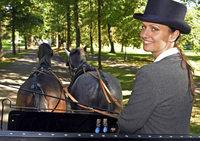 Sabrina M�ller, Pferdekutscherin in Baden-Baden