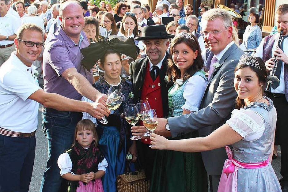 Bei bester Stimmung wurde in Gottenheim gefeiert. (Foto: Mario Schöneberg)