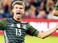 Thomas M�ller trifft wieder: Deutschland gewinnt mit 3:0