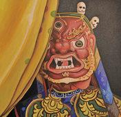 Werke zeitgen�ssischer K�nstler aus Bhutan in der Klosterscheune in Oberried