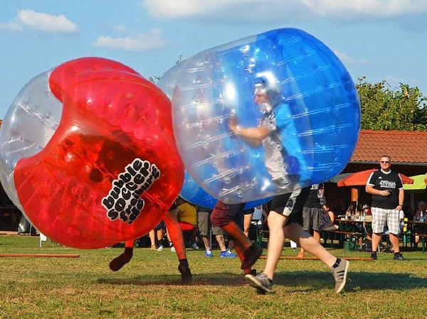 Der Spaß stand beim Bubblesoccer-Turnier in Denzlingen an erster Stelle.