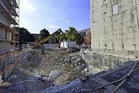 Abriss des Siemenshauses macht Platz f�r ein neues Studentenwohnheim in Freiburg