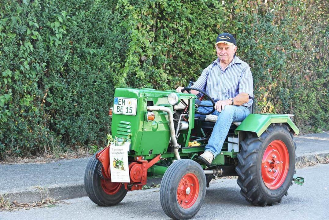 Alles in Eigenbau hergestellt: Der Traktor von Fritz Berger aus Vörstetten  | Foto: Andrea Steinhart