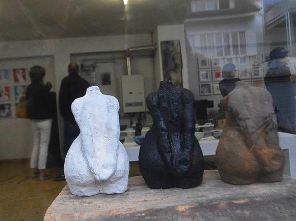 Ansicht mit Blick in Cerstin Thiemanns Atelier