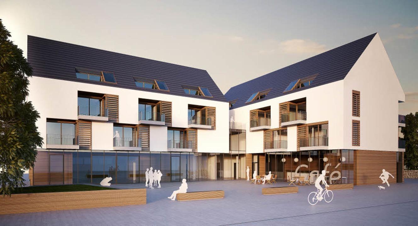 So soll der neue Drescheschopf in Buchholz aussehen.   | Foto: Darstellung: Architekturbüro Werkgruppe 1