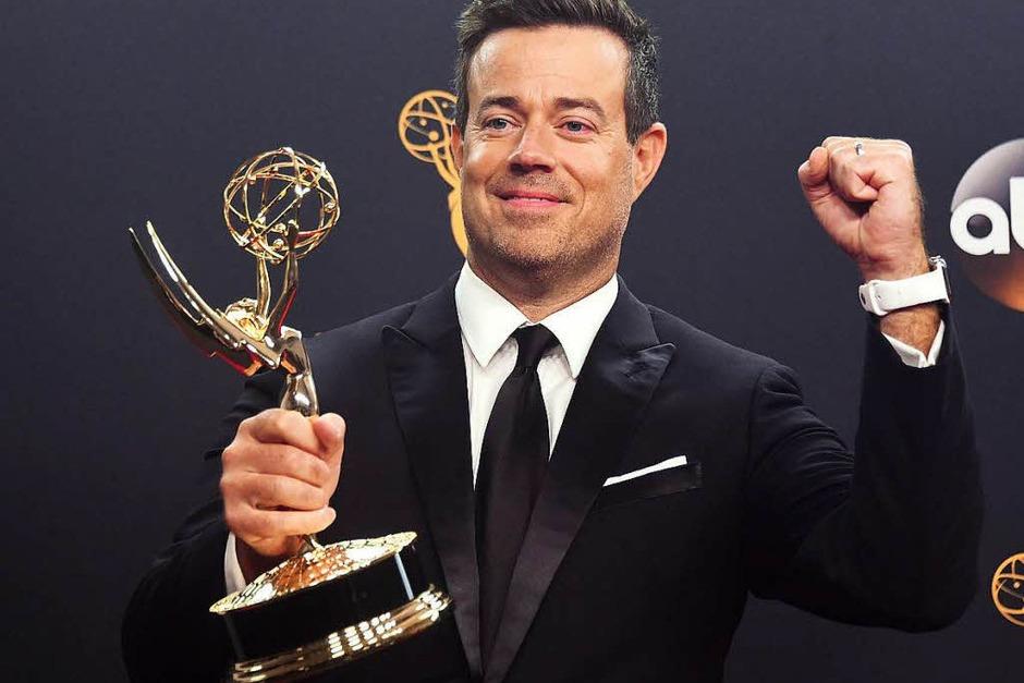 """Carson Daly gewann mit """"The Voice"""" den Emmy für die beste Realityshow. (Foto: AFP)"""