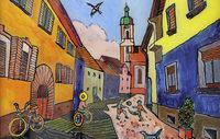 Kaiserst�hler Ansichten in leuchtenden Farben