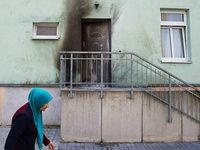 Sprengstoffanschl�ge vor Moschee und Kongressgeb�ude in Dresden