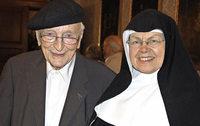 "Der 104-j�hrige Priester Kurt Erhart war Gast der Reihe ""Dialog im Kloster"""