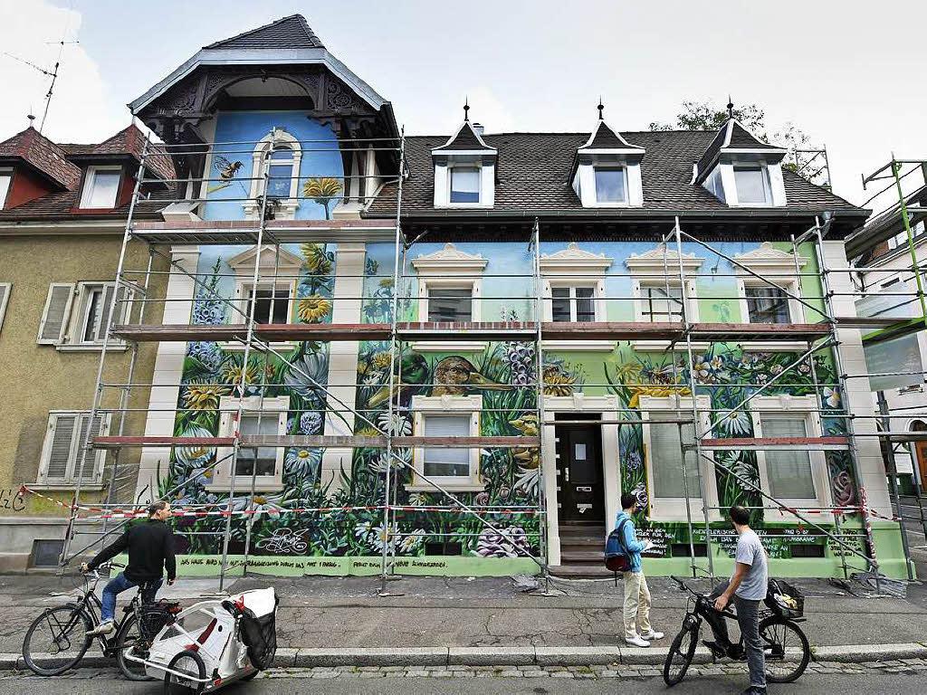 warum ein graffiti k nstler ein haus in der wiehre nicht fertig bespr hen darf freiburg. Black Bedroom Furniture Sets. Home Design Ideas