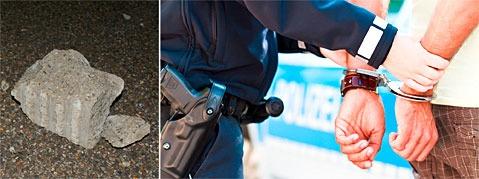 Polizei nimmt nach Steinwurf auf A7 Verd�chtigen fest