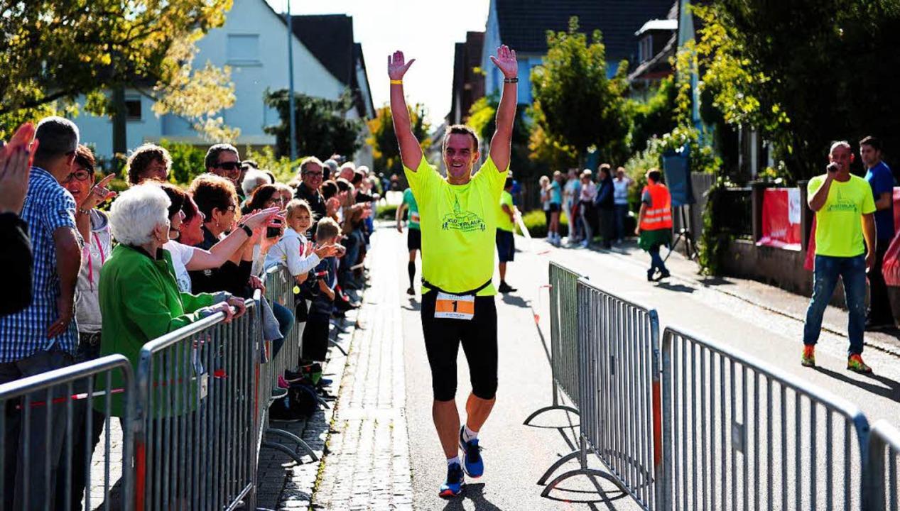 Auch Friesenheims Bürgermeister Erik Weide lief mit – und kam ans Ziel.  | Foto: Pressebüro Schaller