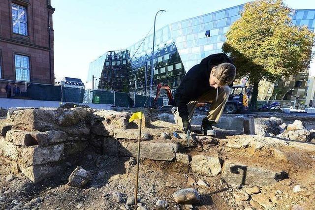 Reste der alten Synagoge in Freiburg gefunden