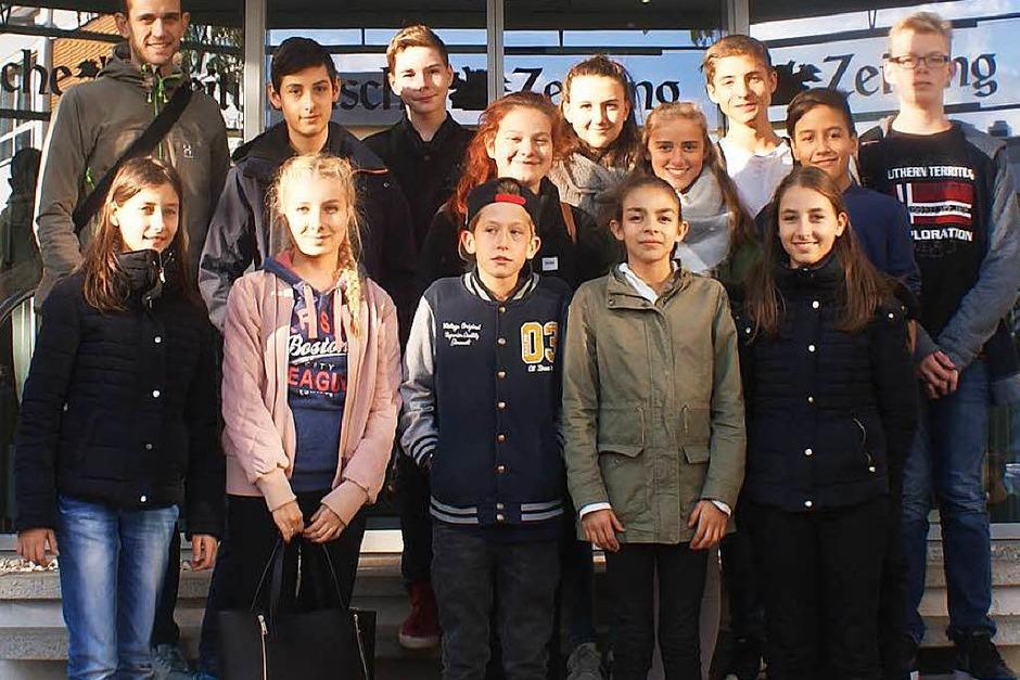 Klasse 8 der Freien-Christlichen Schule, Freiburg (Foto: bz)