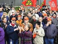 Warnstreik bei R�stungsfirma Litef in Freiburg