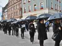 Gegen Menschenhandel: L�rracher nehmen am Walk For Freedom teil