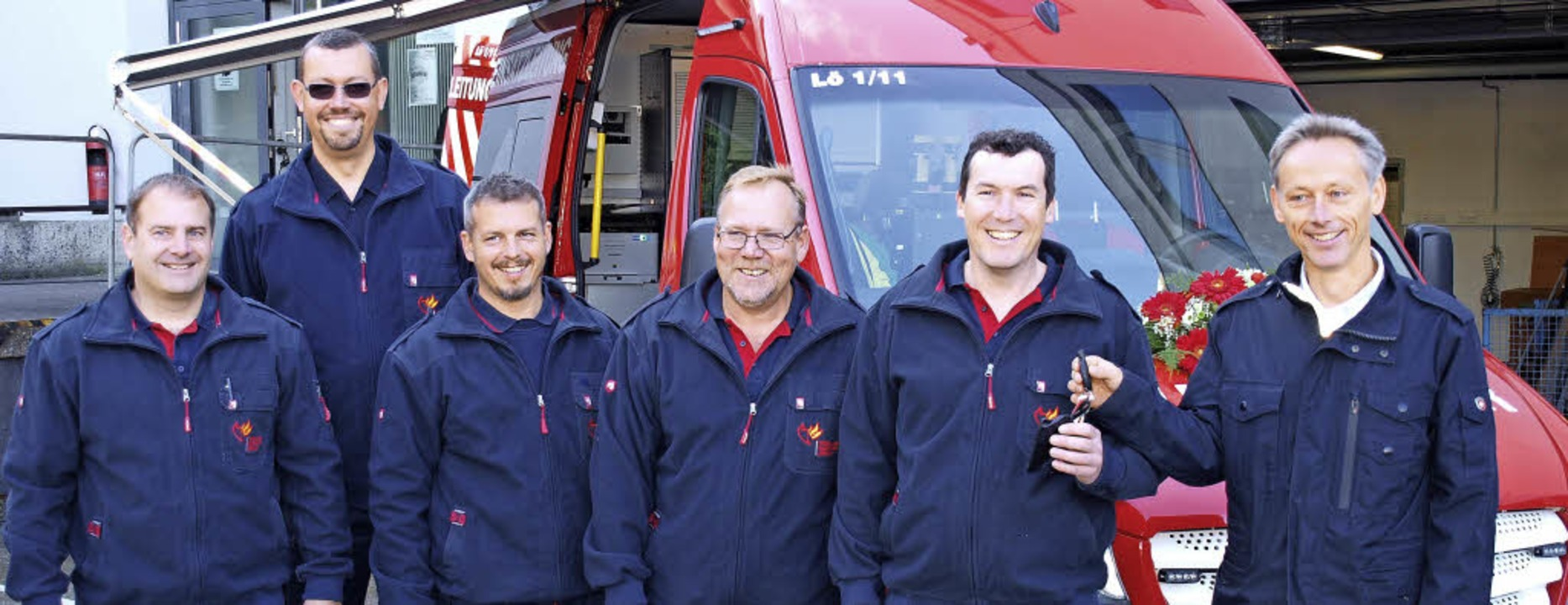 Im Bild von rechts: Dr. Michael Wilke, Markus Künstle, Oliver Geyer, Klaus Betting, Christian Heske, Stephan Schepperle