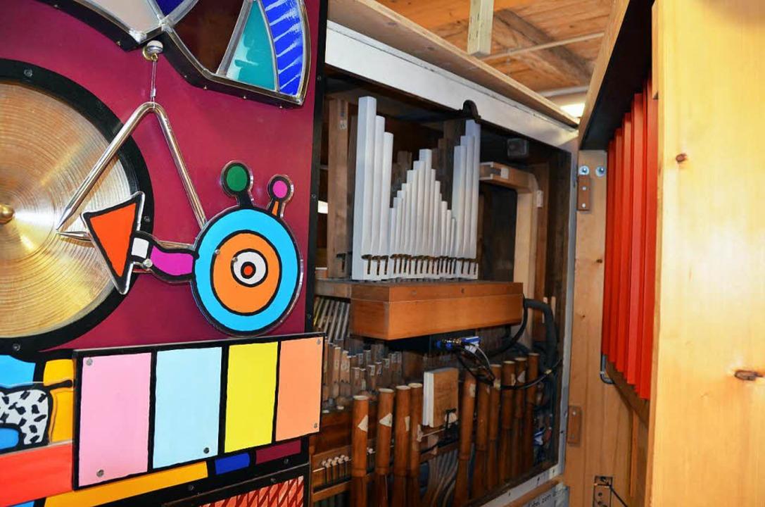 Blick ins Innenleben der Klamauk-Orgel.  | Foto: Sylvia Sredniawa