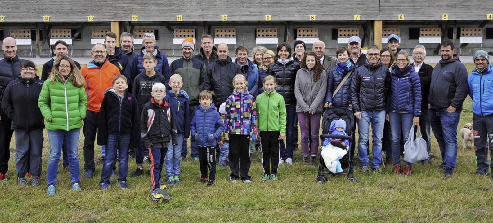 Die Sportstiftung Südbaden dankte den Stiftern auf der Biathlonanlage Notschrei.  | Foto: Sportstiftung Südbaden