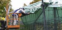 Planen und Netze sollen Tiere sch�tzen