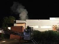 Brand in Industriegebiet in Heitersheim