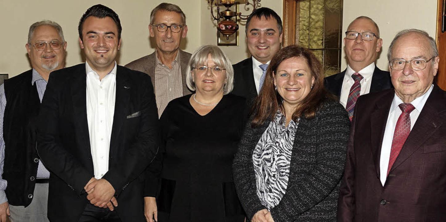 Wechsel im CDU-Vorstand Steinen: Von l..., Bernard Ebner und Wolfgang Deschler.  | Foto: Hege