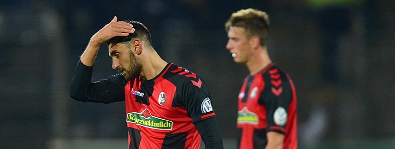SC Freiburg verliert gegen den SV Sandhausen 6:7 nach Elfmeterschie�en