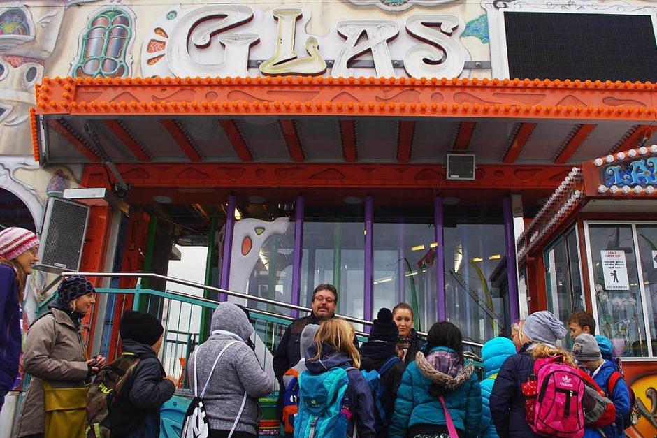 Erste Station war das Glaslabyrinth Glaswerk. (Foto: Sonja Zellmann)