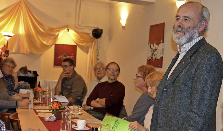 Ulrich Martin Drescher bei der Nominierungsveranstaltung   | Foto: Barthmes