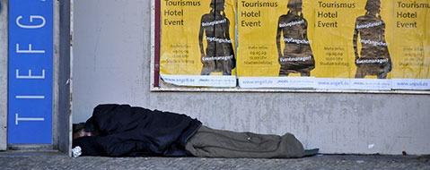 104 Platzverweise f�r Obdachlose in Freiburger Innenstadt