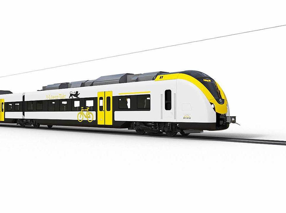 Der Zug von außen  | Foto: Alstom