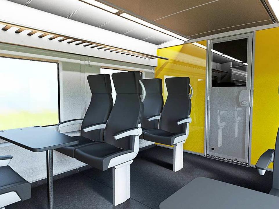 Hier ist ein Abteil der ersten Klasse zu sehen.  | Foto: Alstom